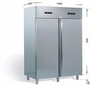 Armadio Refrigerato OASIS 1400 litri Metallizzato