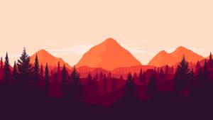 Sfondo Montagne tramonto