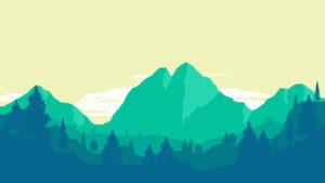 Sfondo Montagne verdi